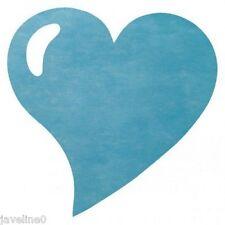 Sets de table coeur non tissé bleu turquoise (lot de 50)