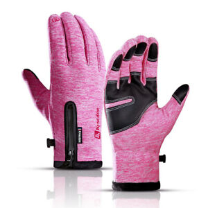 Winter Thermal Fleece Gloves Touchscreen Waterproof Windproof Cycling For Gloves