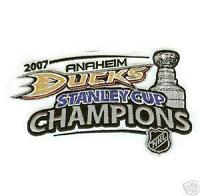 NHL 2007 Stanley Cup Champions Patch Anaheim Ducks Jersey Patch