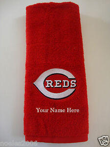 Personalized Embroidered Golf Bowling Workout Towel Cincinnati Reds