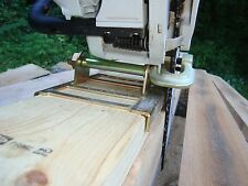 Lumber cutting chain saw mill guide attachment boards, beams, planks, log homes