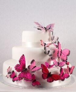 Pink Butterfly Butterflies Wedding Cake Decorations