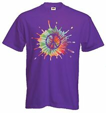 CND PSYCHEDELIC T-SHIRT - Peace Symbol Nuclear Hippy 1960s - Choice Of Colours