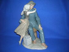 "Lladro ""The Kiss"" porcelain figurine - 13"", glazed, issued 1974, retired 1983"
