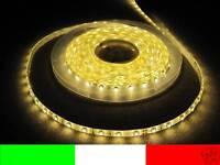 24v 24 WATERPROOF 5m LED STRIP STRISCIA BIANCO CALDO LUCI DA ESTERNO B7B3