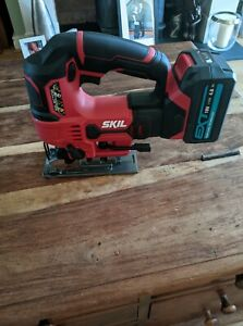 Skill 20v jigsaw body with 4 Ah amp Erbauer EXT 18V battery