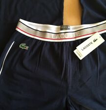 LACOSTE Men's Pyjama Bottoms -Size M - Navy Blue PJs - BNWT - Lounge Pants
