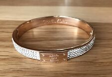 Michael Kors Bracelet Rose Gold Diamonds Bangle, Come With MK Pouch