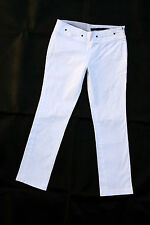 PEUTEREY Trousers WHITE Pants PIRATE JEANS STRETCH STRAIGHT FIT W28 UK10 SuPER!!