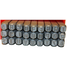 Uppercase Letters Metal Punch Stamps, 27 pcs, Size 6.0mm, Arial Alphabet Font