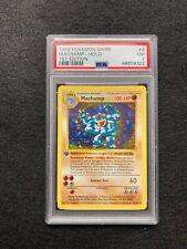 1999 Pokemon Game Machamp Holo #8 1st Edition Shadowless PSA 7