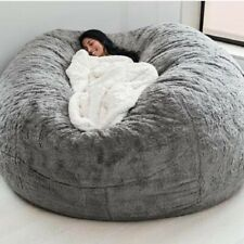Extra Large Bean Bag Chair Sofa Cover Indoor/Outdoor Seat Couch Lazy Bags 7ft 5