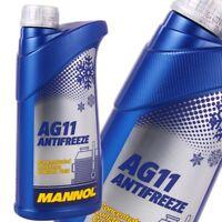 1L Kühlerfrostschutz Blau AG11 Mannol Antifreeze -40°C Kühlmittel Konzentrat