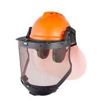 More details for msa premium forestry safety helmet kit orange with chin guard en1731-f en397