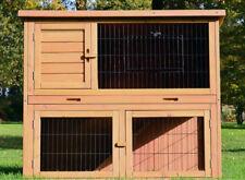 Zooprimus ❤ Cage Clapier Enclos lapin Extérieur en bois de pin Haute Qualité