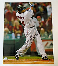 MANNY RAMIREZ SIGNED 16x20 COLOR PHOTO ~ PSA/DNA COA ~ BOSTON RED SOX AUTOGRAPH