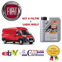 KIT 4 FILTRI TAGLIANDO FIAT DUCATO 2.3 MJT 250 96 KW 131 CV + OLIO LIQUI MOLY
