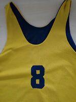 Mens Yellow Basketball Training Vest Chest 46'' XL