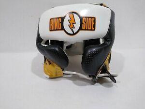 Ringside BoxingYouth Training Headgear, Black/White/Neon, Small/Medium