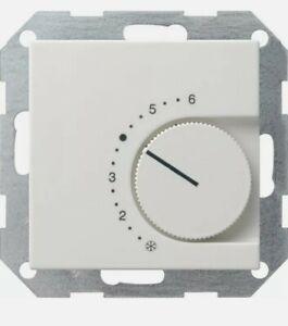 5 St. + 5 Rahmen  Gira Raumthermostat, Raumtemperatur-Regler 039003