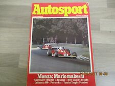 September 15th 1977, AUTOSPORT, Mario Andretti, Brett Riley, Chrysler Sunbeam.