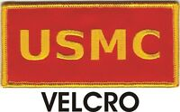 USMC US MARINE CORPS MARINES Gold on Red Patch VELCRO® BRAND Fastener Compatible