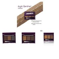 Natural 3 Colors Eye Eyebrow Powder Makeup Brow Shadow Definition Palette