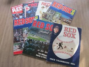 1963-1976 Boston Red Sox Baseball Yearbook Lot (7)