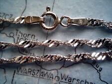 gedrehtes Armband Weißgold 333 Länge 18 cm x 2,2 mm, Damenarmband Weißgold 333
