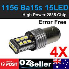 4pcs 1156 BA15S Car White Globe 2835 15-LED Backup Reverse Tail Light Bulbs 12V