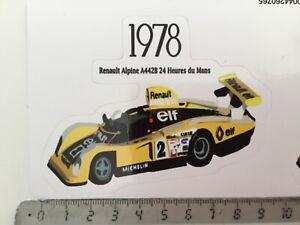 Sticker / Aufkleber, Renault Alpine A442B 1. 24h Le Mans 1978