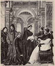 D4886 Inaugurazione Biblioteca Vaticana - Papa Sisto IV - Stampa - 1938 print