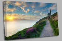 Cornwall coast at St Agnes Canvas Wall Art Picture Print