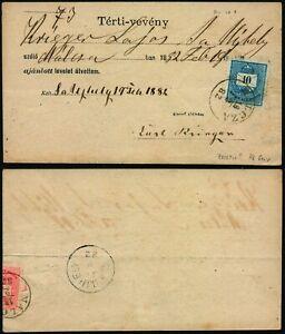 M369 Hungary receipt Malcza Saujhely 1882