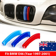 M Color Kidney Grille Grill Cover Decal Stripe Clips BMW 3 Series E46 1997-2001