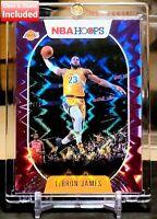 2020 LeBron James NBA Hoops #146 Purple Explosion Holo Los Angeles Lakers 💜💛