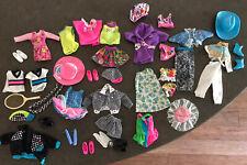 Barbie Clothes Lot 80's Barbie Skipper Stacie Mixed Lot Shoes Hat.