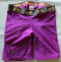 Under Armour Womens Strike Zone Padded Slider Compression Shorts Size SM Purple