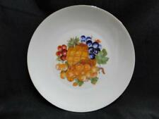 "Bareuther BTH4 Fruit: Plate with Grapes and Pineapple 1/16"" Gold Trim, 7 3/4"""