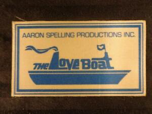 Vintage 1977 THE LOVE BOAT Hollywood INDUSTRY PROMO STICKER Aaron Spelling RARE