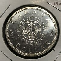 1964 CANADA SILVER DOLLAR BRILLIANT UNCIRCULATED CROWN