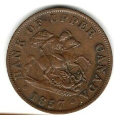 (Pgasteelers 1) Canada Province 1857 BR#720 1/2 Penny copper St.George & Dragon