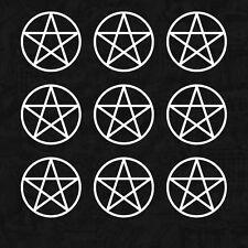 XXL SET Pentagramm Gothic Rock Mystik Metal Kult Auto Aufkleber Sticker JDM 8cm