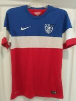 NIKE AUTHENTIC DRI FIT USA SOCCER /POLO SHIRT/JERSEY SIZE SMALL RED/WHITE/BLUE