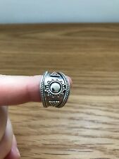 Sterling silver ring 925 Size O, Suarti silver, chunky, gothic, vintage, Bali
