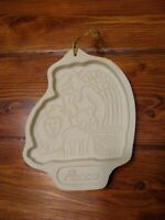 """Vintage Longaberger Peace Angel Christmas 7 1/2"""" Cookie Candy Mold 1993 Baking"""