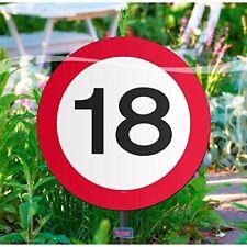 Folat Creative Gartenschild für Geburtstagsparty Verkehrsschild 18. Geburt