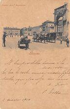 8991) LIVORNO PIAZZA VITTORIO EMANUEELE OMNIBUS A CAVALLI, CARRO.