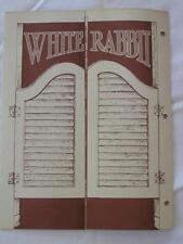 JACK DANIELS WHITE RABBIT SALOON MENU (VINTAGE REPRODUCTION)