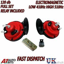 12V Loud Dual Tone Twin Snail Air Horn With Relay for Boats Vans Bikes Cars